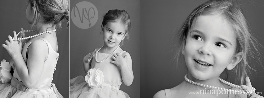 lifestyle black and white portraits of little girl