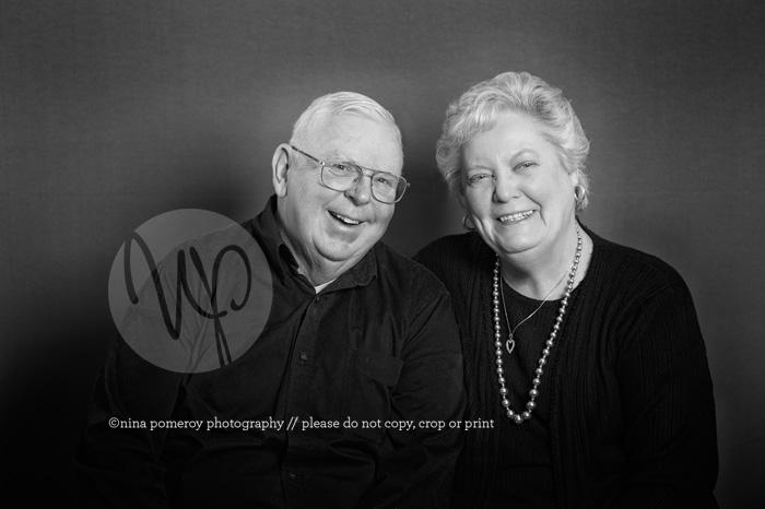 husband and wife wedding anniversary portrait by nina pomeroy
