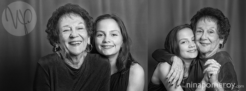grandma and granddaughter laughing portrait by nina pomeroy