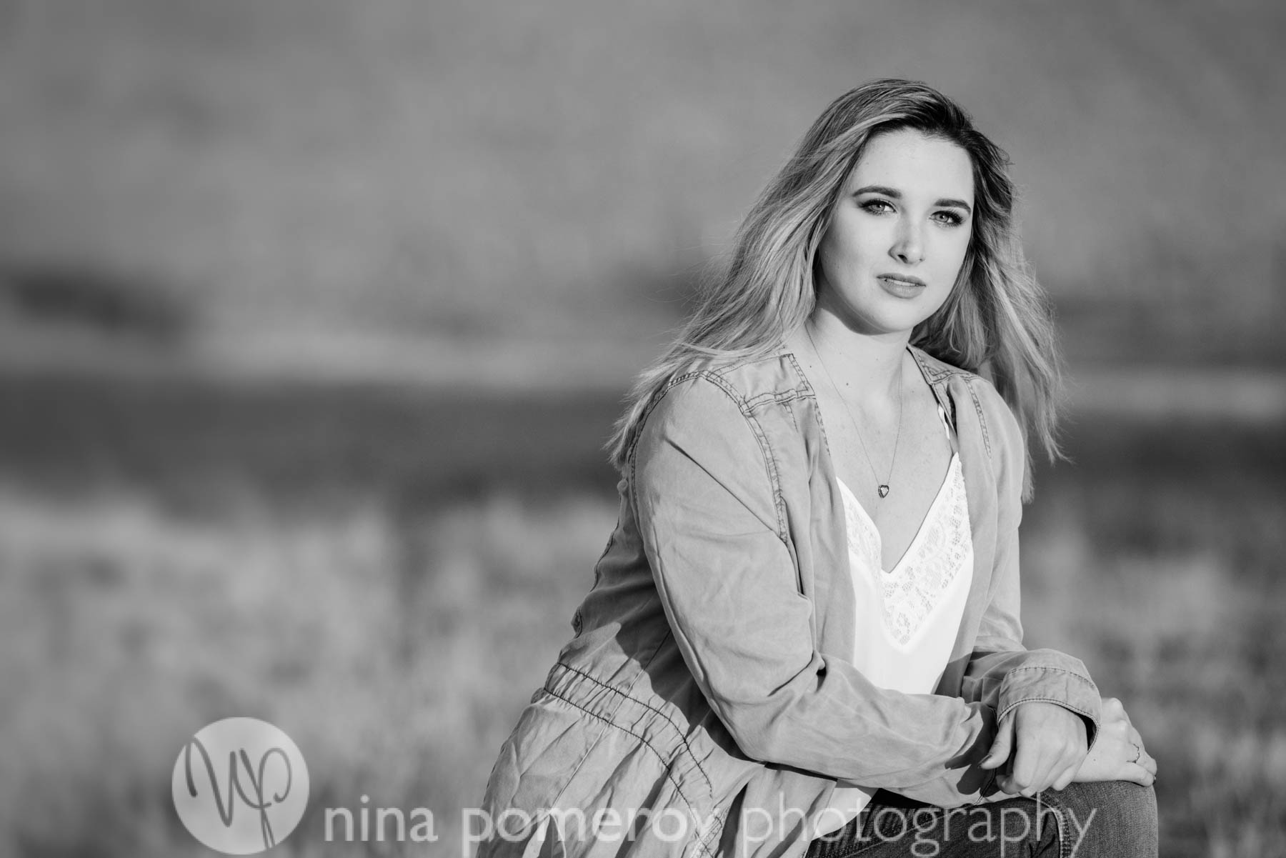 Black and white timeless photos of DVHS Senior in San Ramon CA by Nina Pomeroy
