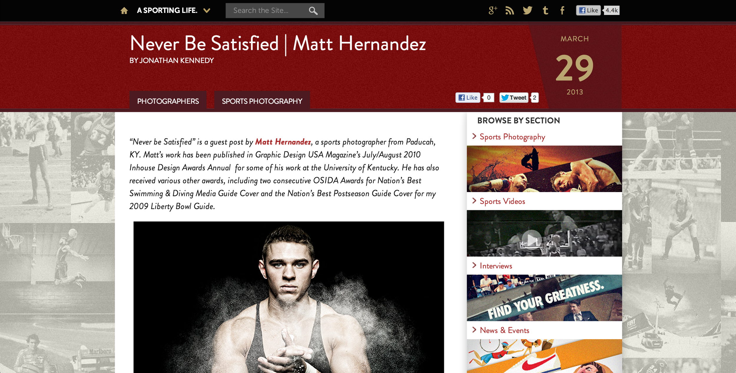 Check out my guest post over at asportinglife.com!