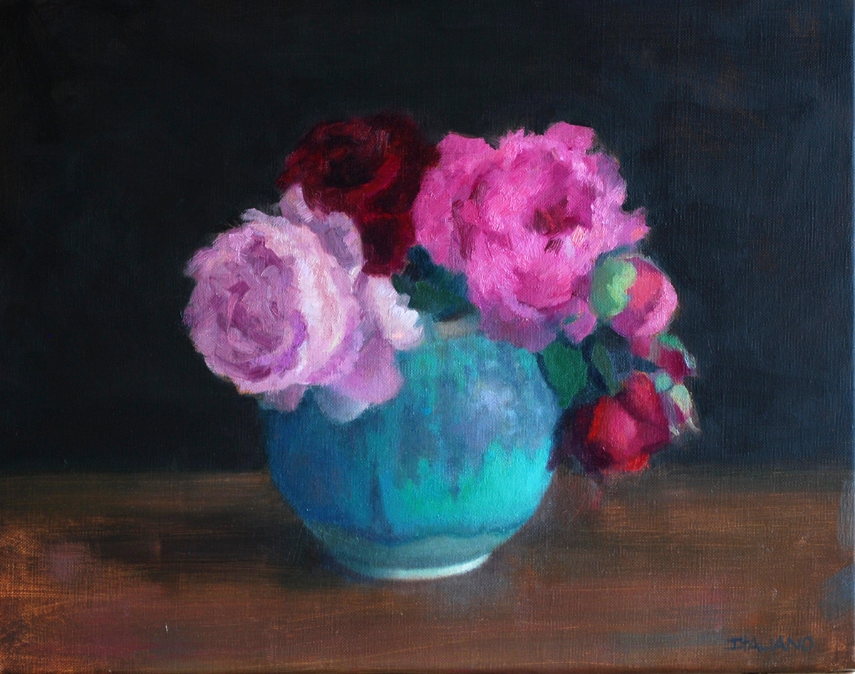 Peonies in Chinese Vase