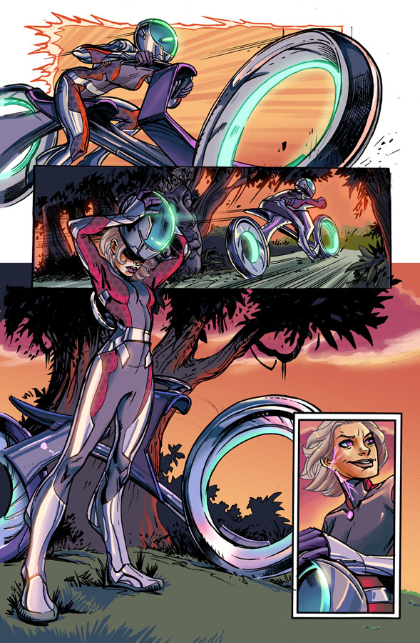 Line work by Steve Ellis. Colors by Jules Rivera.