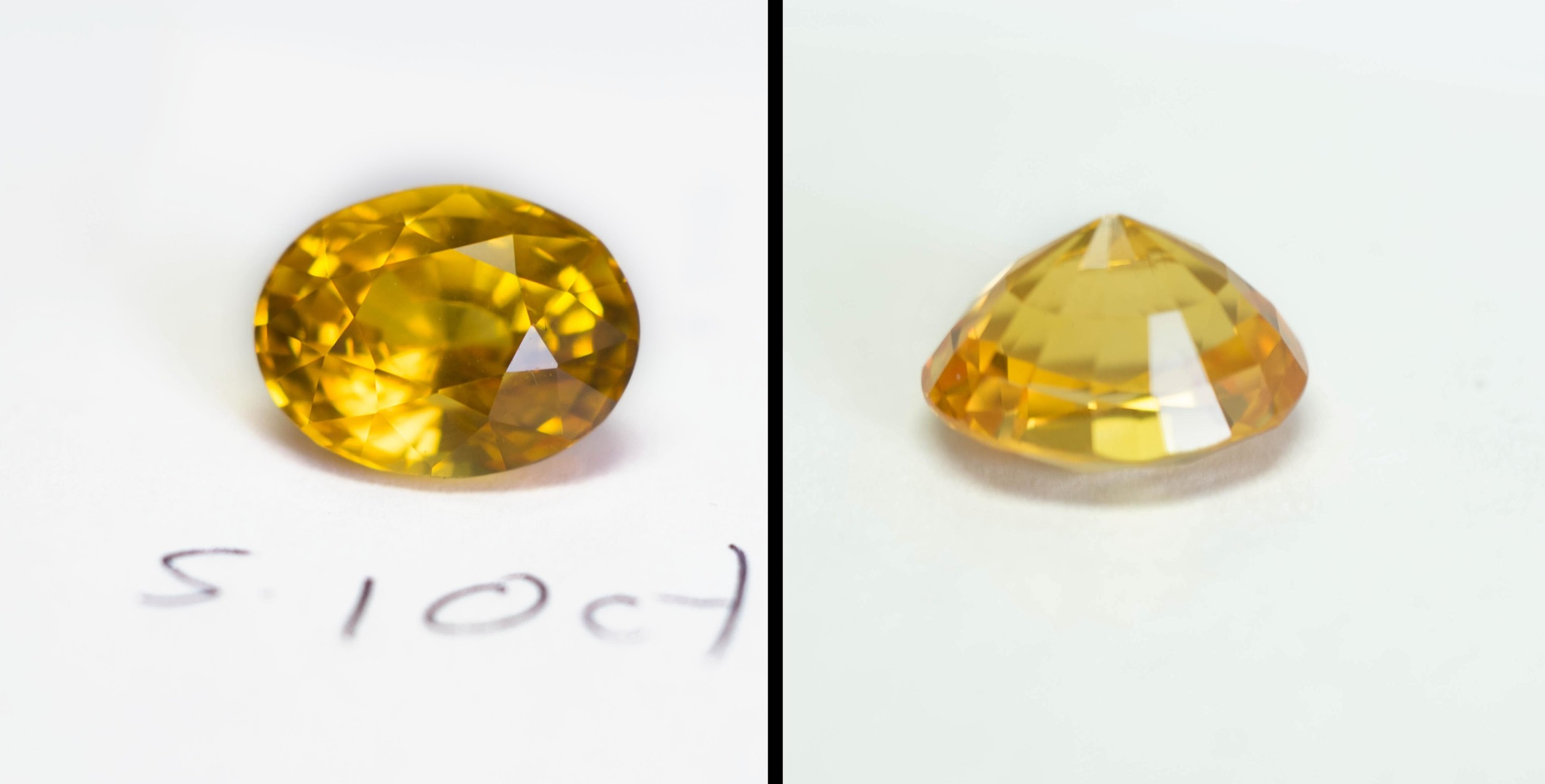 5.10ct Yellow Sapphire from Sri Lanka