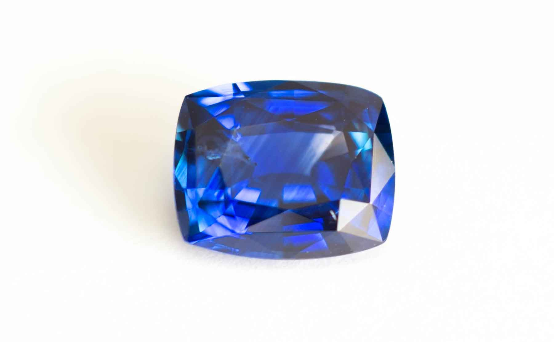 3.24ct Blue sapphire. Excellent color with a few inclusions.
