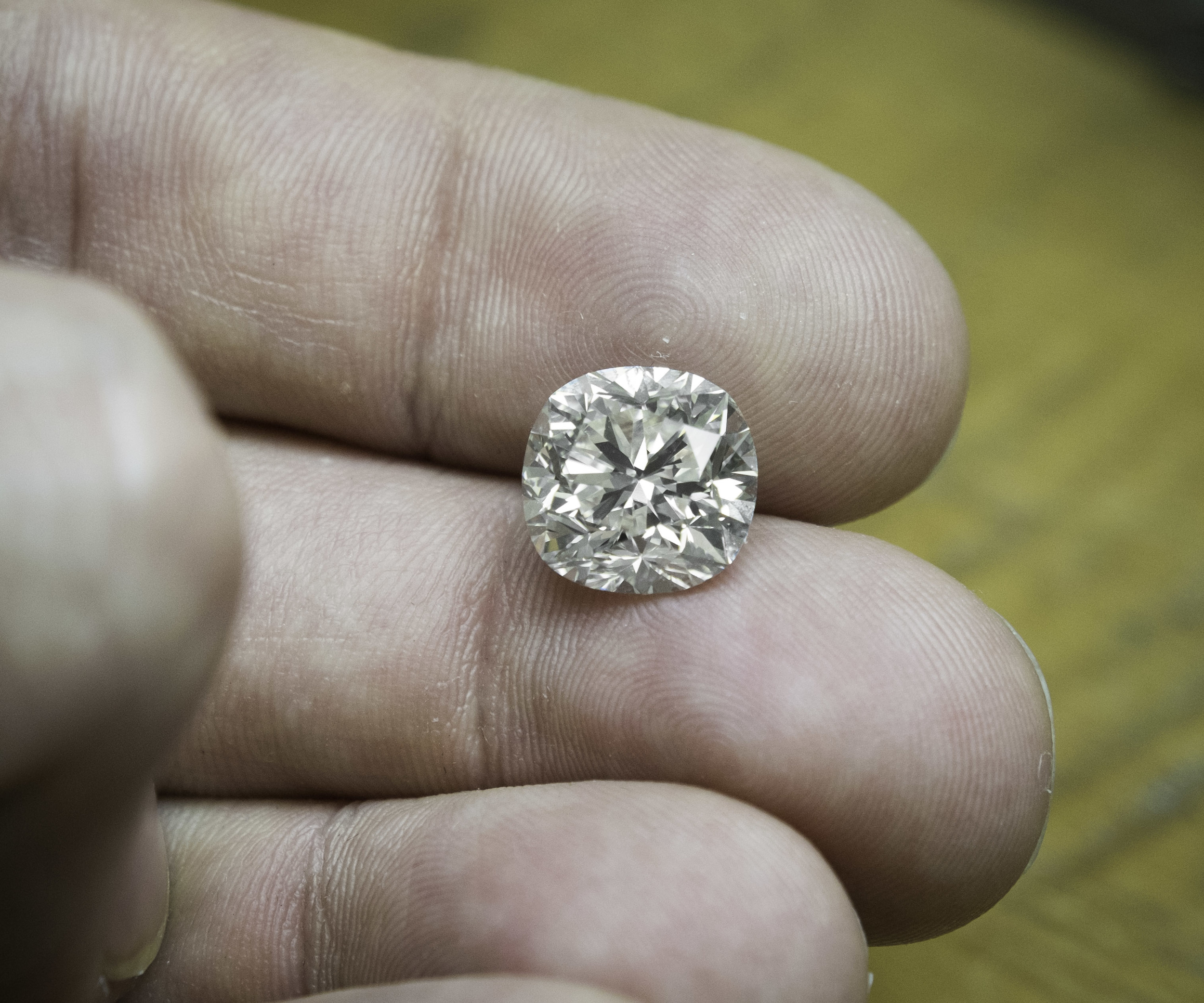 A Stunning 5ct cushion cut - It just so happens to be K color VS2.