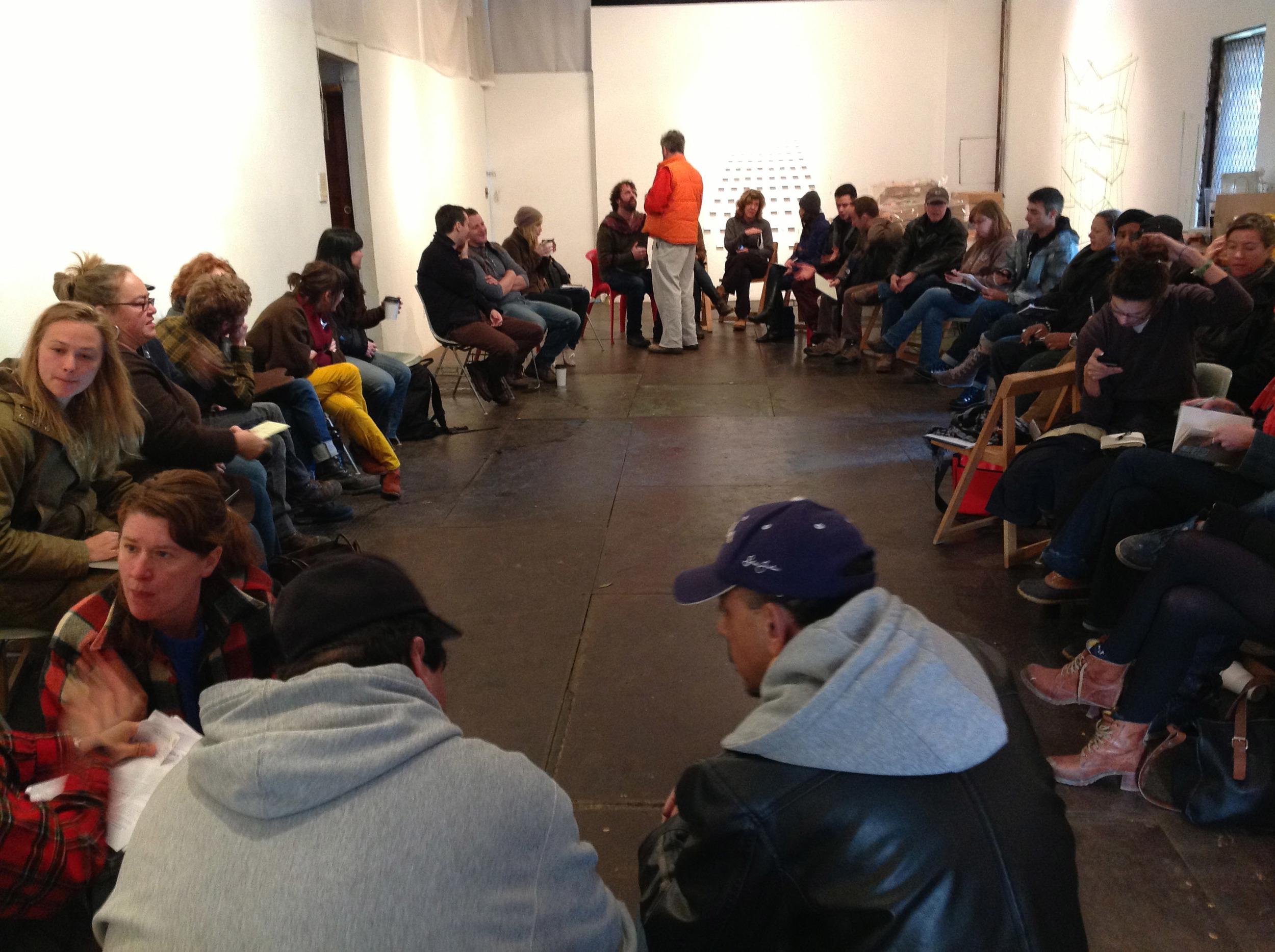 Meetings were held at Kentler Gallery