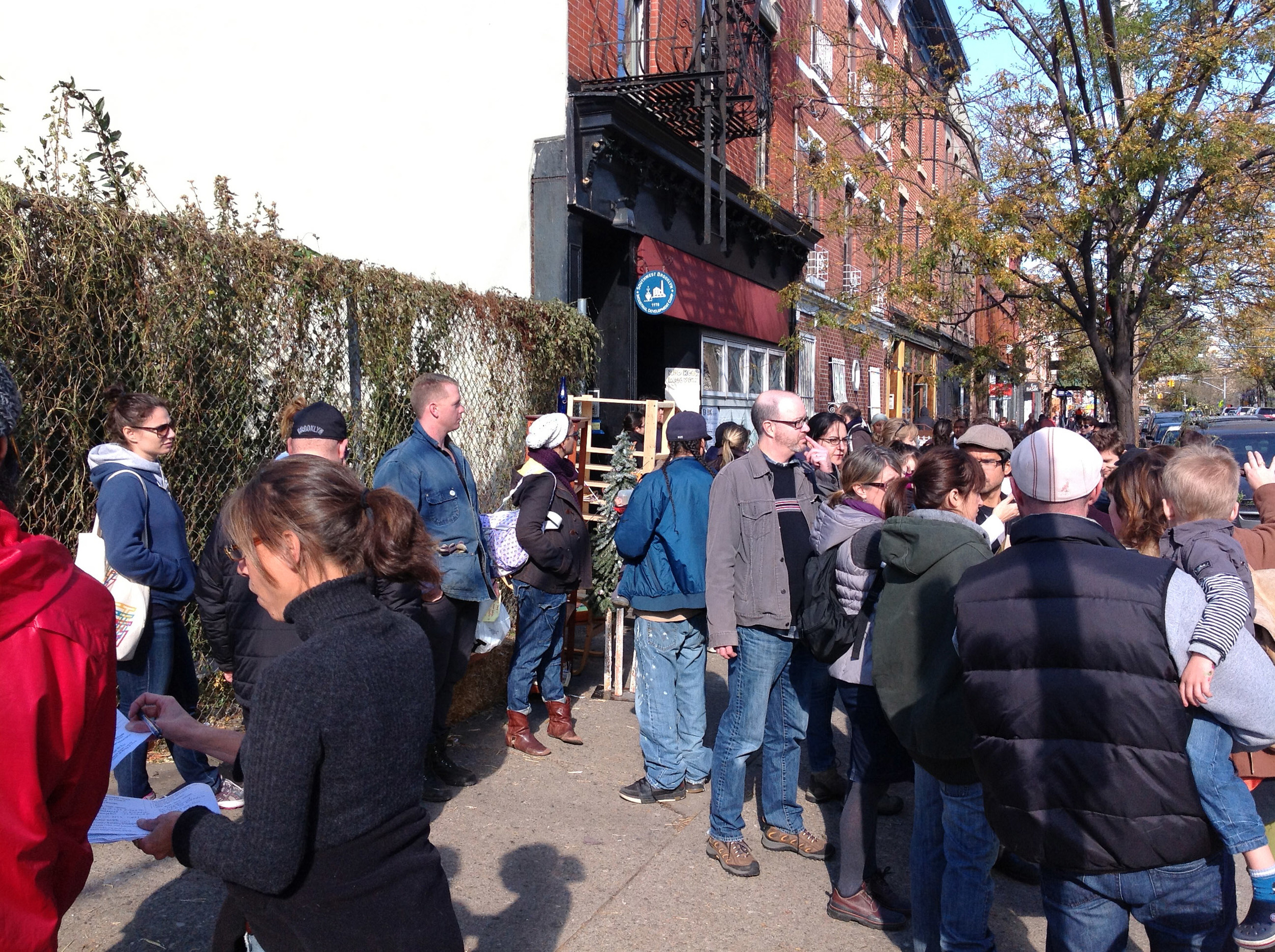 Thousands of volunteers flooded into Red Hook, which were dispatched from SBIDC's Van Brunt Street office by Friday the week of the storm