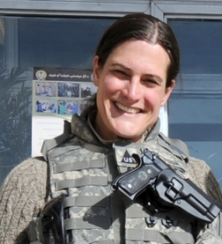 Erika Stetson in Afghanistan
