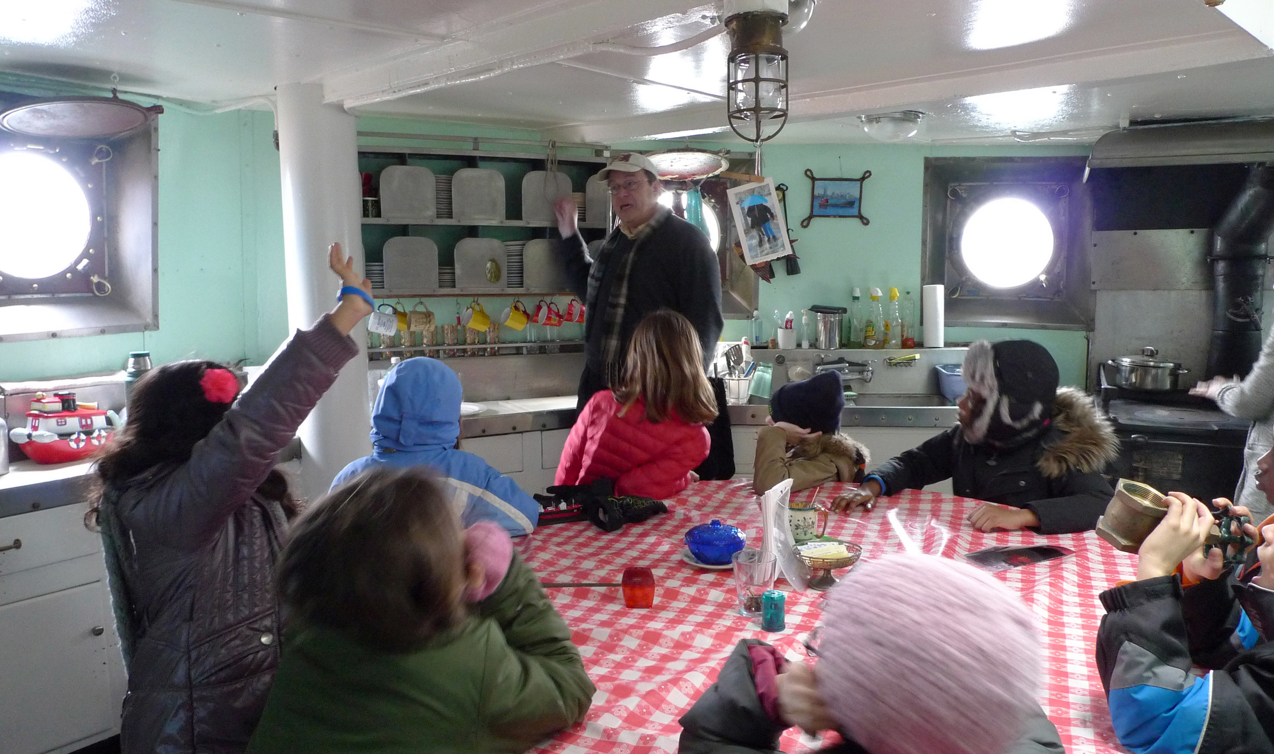 School Visit to the Tanker Mary Whalen