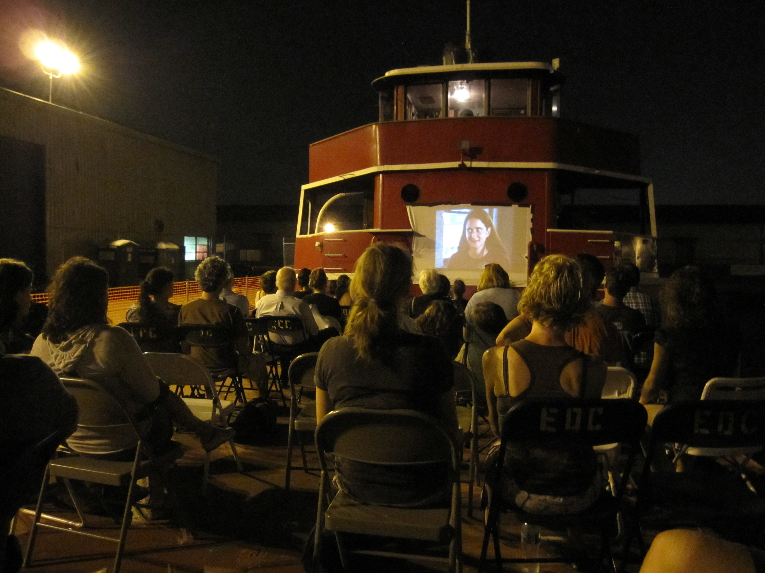TankerFlicks aboard the Mary Whalen