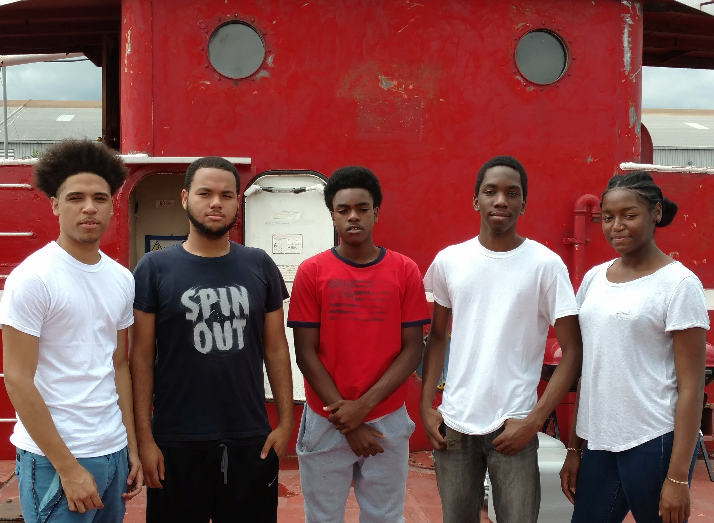 WHSAD 2016 Interns (from left to right):  Jose, Cesar, Christopher, DeVere, and Christie.