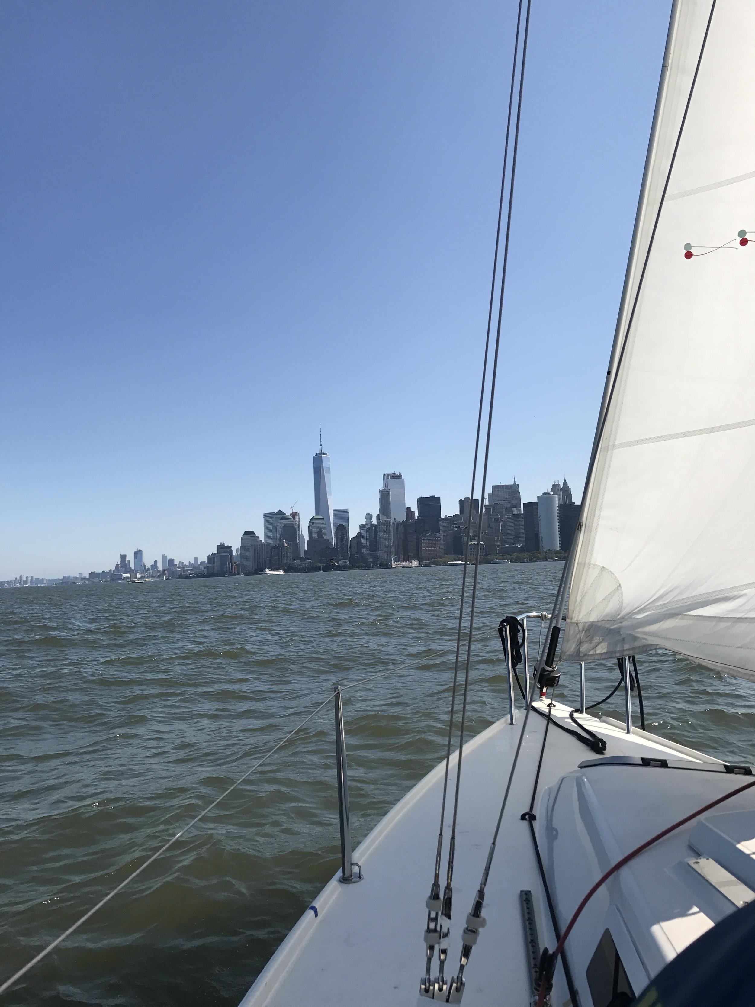 Sailing boat trip