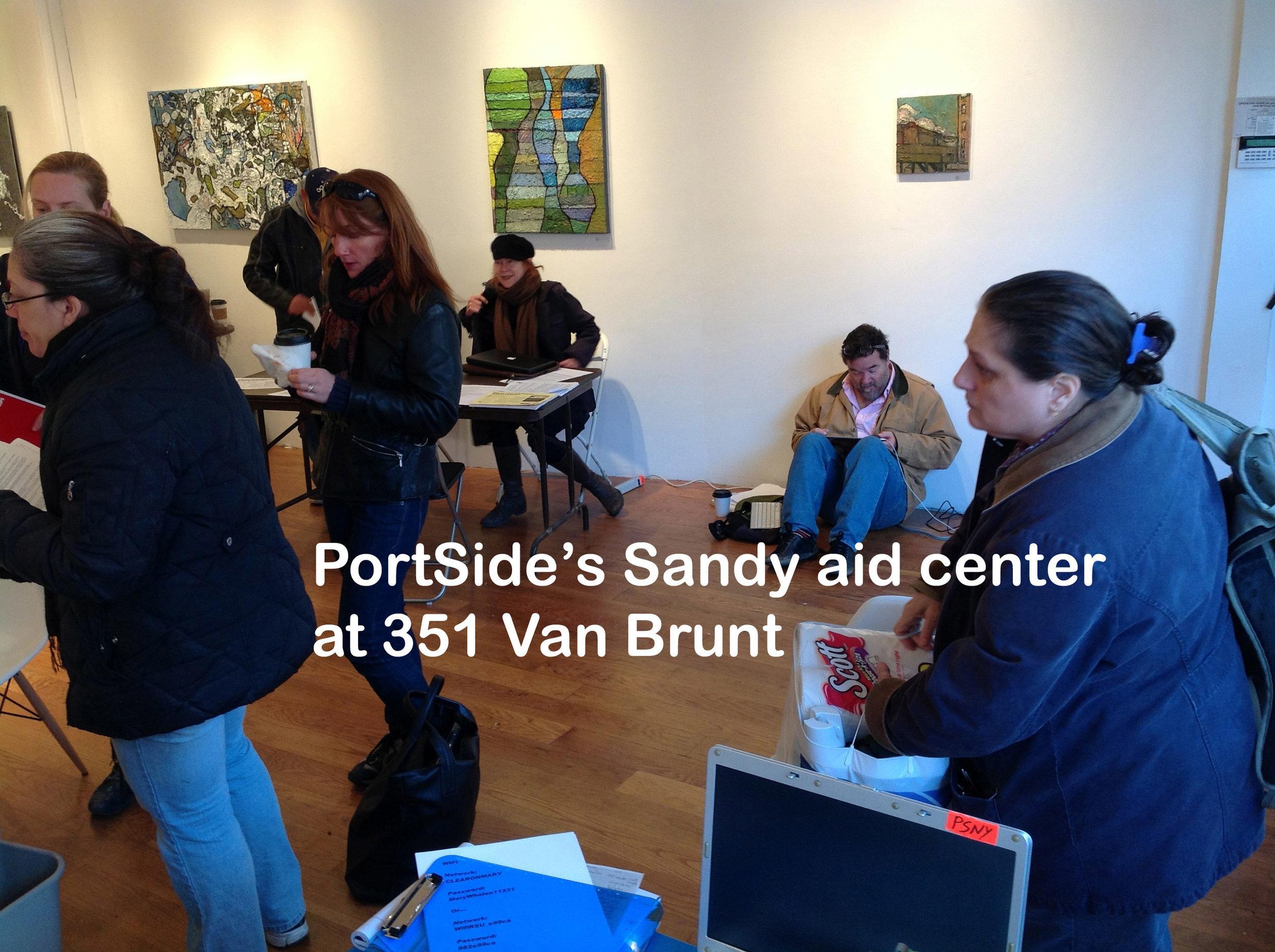 inside of PortSide Sandy aid hub 351w-caption.jpg