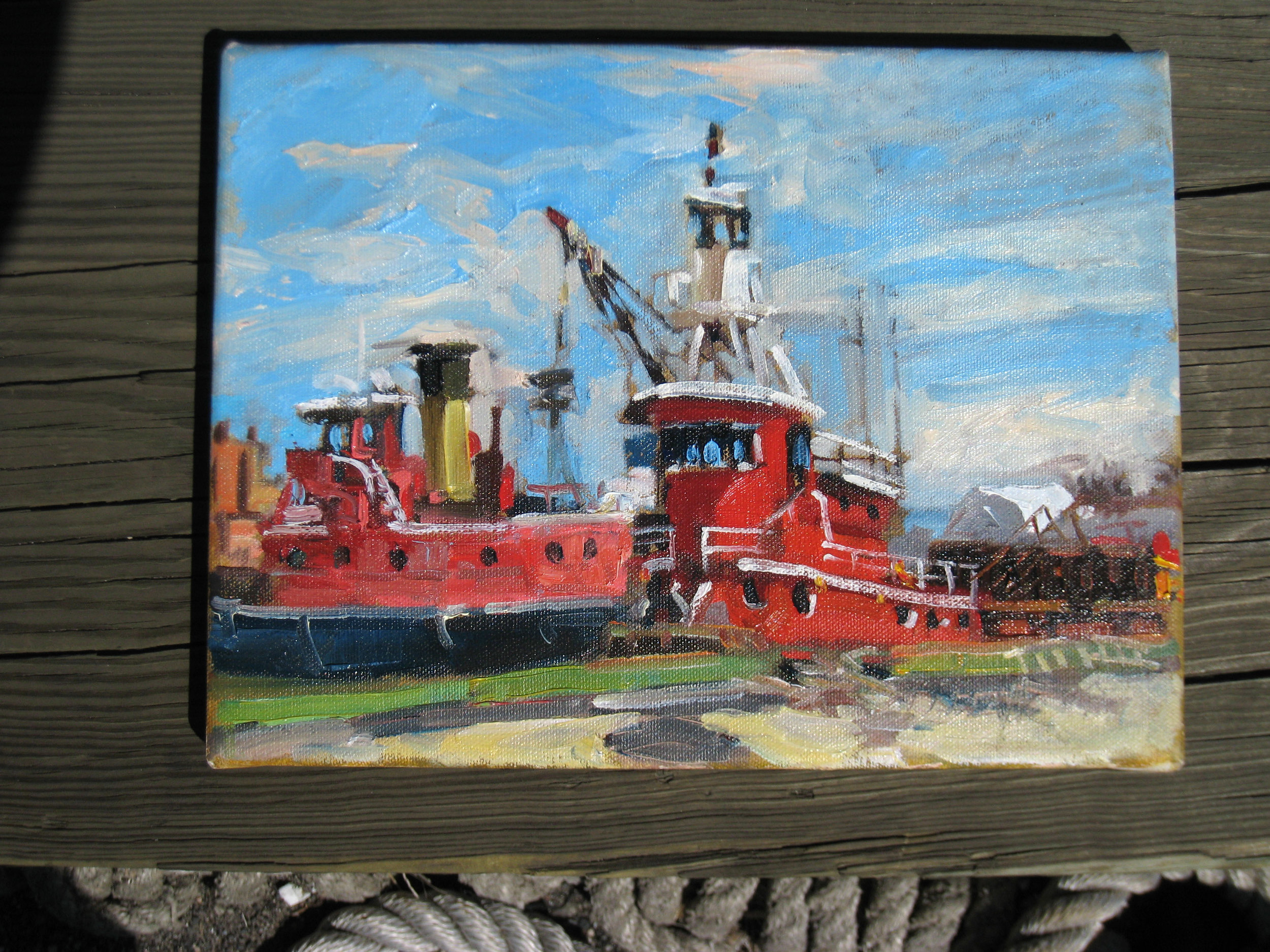 080329-02 Whalen+tug Patrick J Hunt  painting by Dennis Doyle .jpg