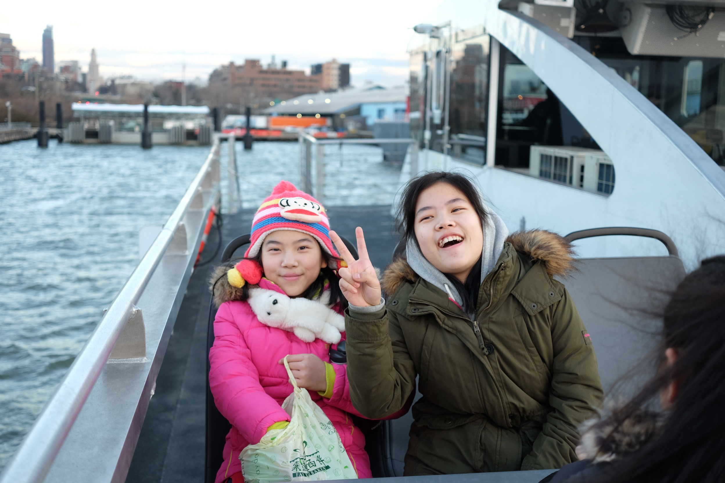 Students from the Red hook neighborhood school, ps 676, taking a portside field trip on nyc ferry.