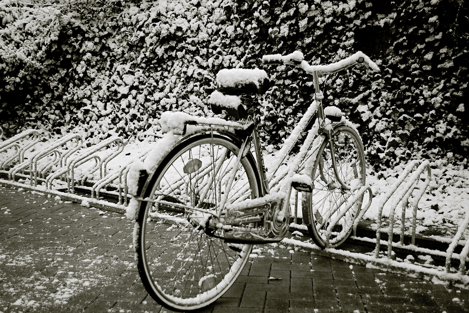 bicycle-snow-winter