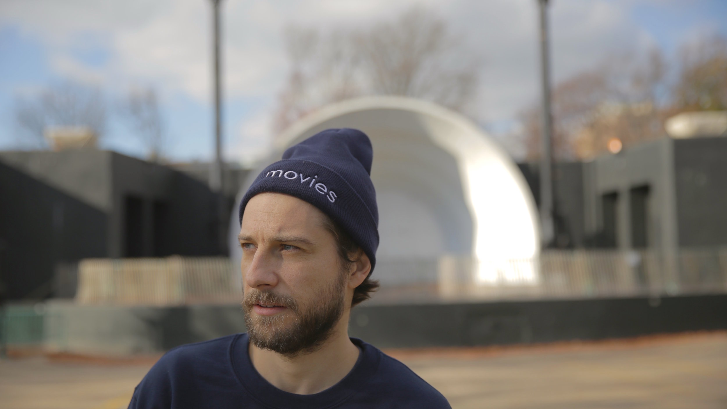 The hat I'm wearing is available for purchase through my company  Movies Brand .