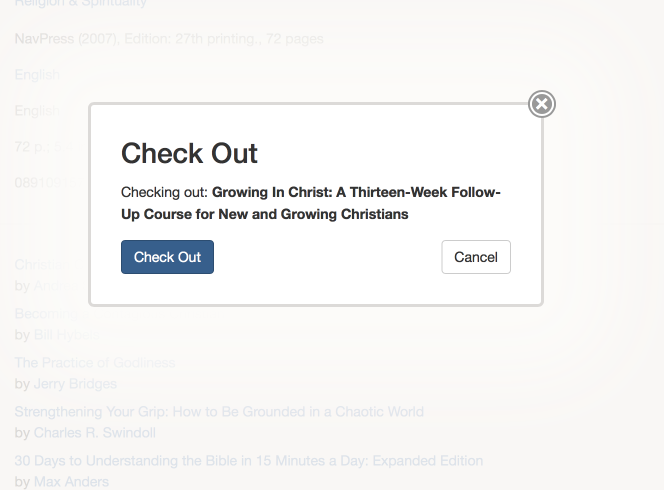 """Click """"Check Out"""" to finalize the transaction, or click """"Cancel"""" if you want to go back."""