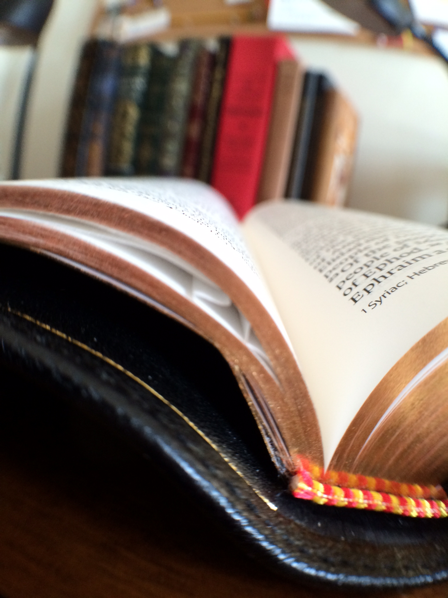Because the pages are thin, this might happen from time to time. Just be gentle and make sure all of the pages are laying flat before storing your Bible.