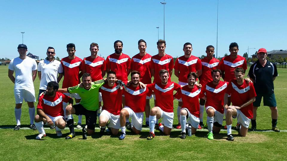Coach Ross Evans and the Reserves