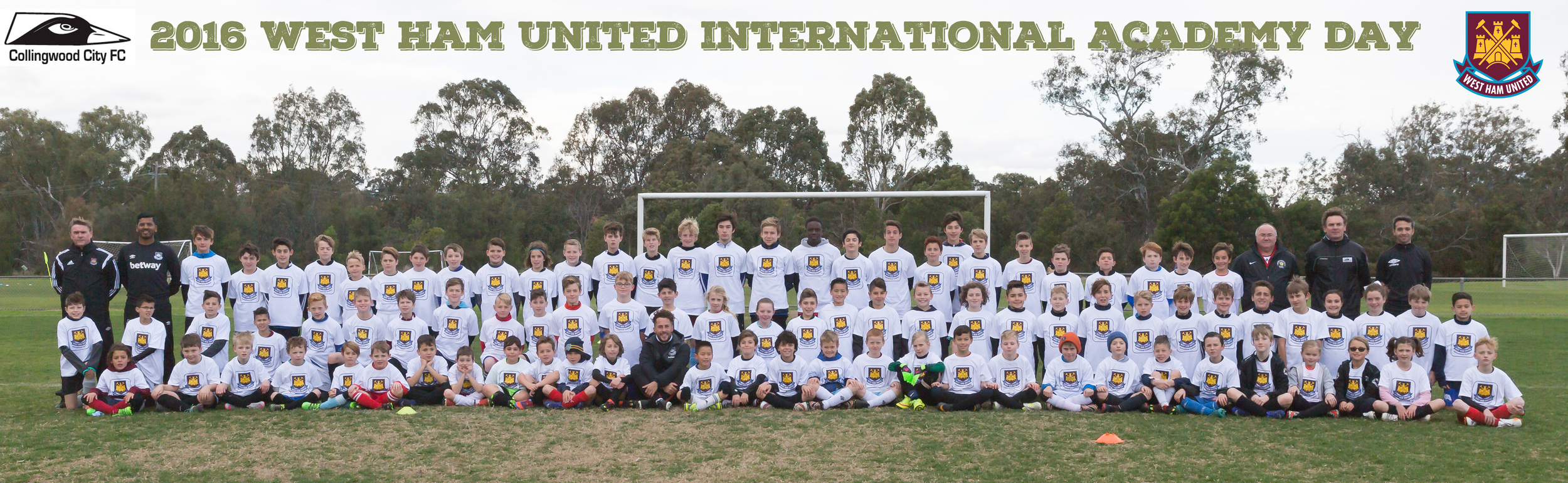 Another great turn out for the West Ham United International Academy held at our home grounds of Kevin Bartlett Reserve.
