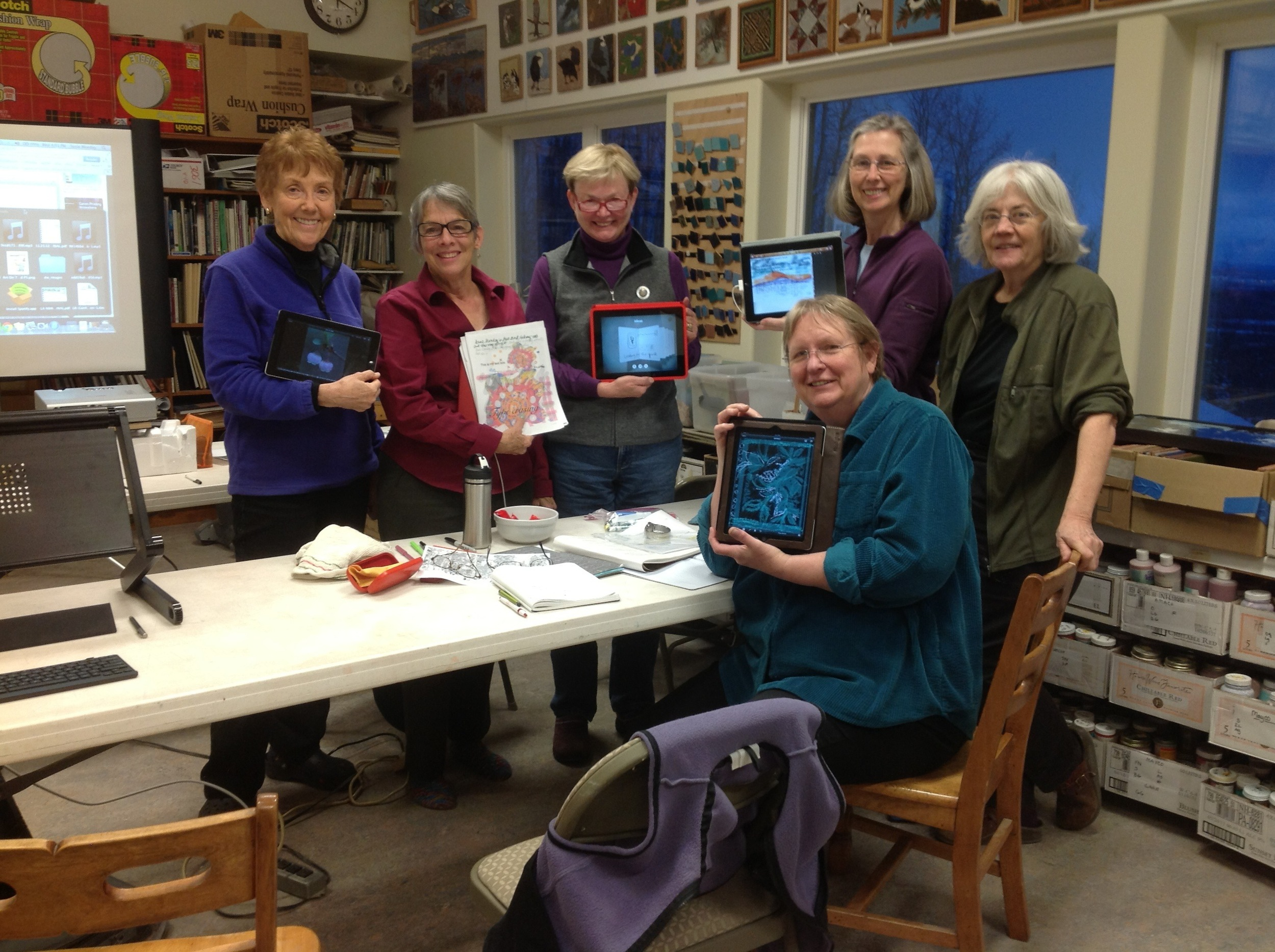 iPad  for Artists Workshop in Fairbanks, Alaska, January 2013