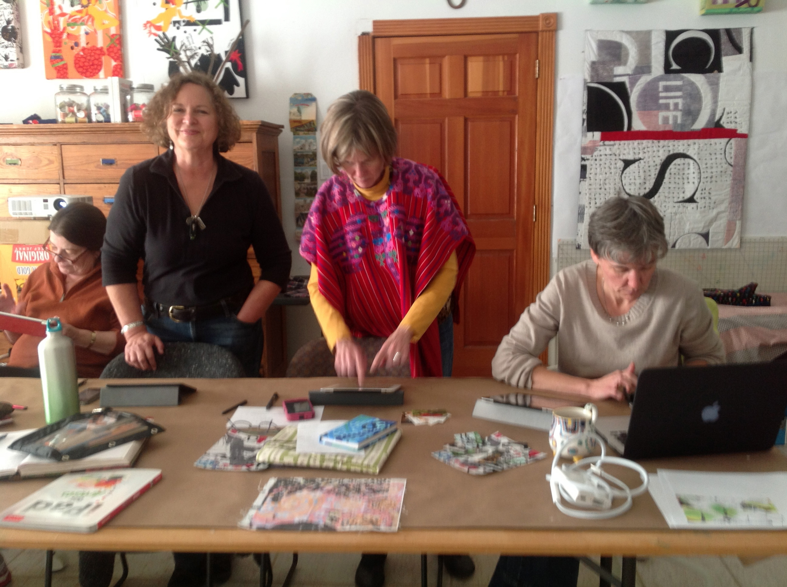 In the studio -- small group workshops...