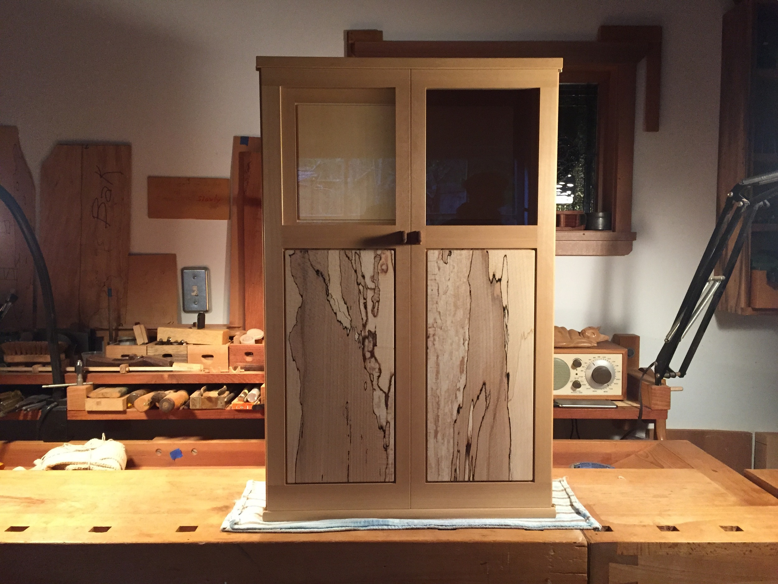 Finished cabinet,in Robert's shop