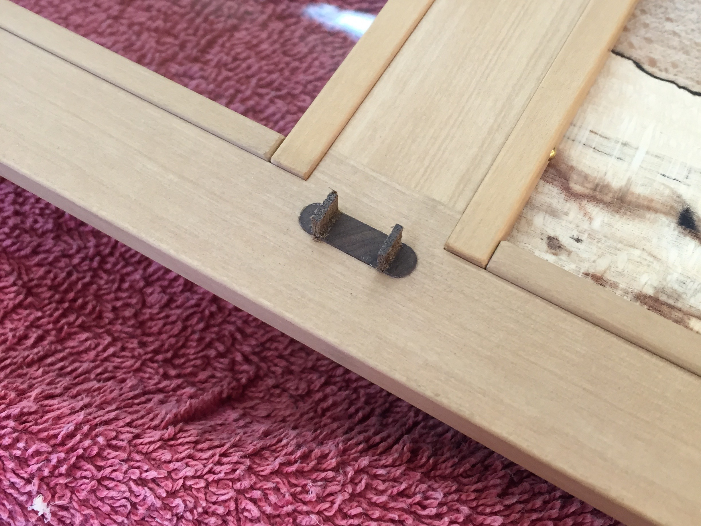 Through and wedged tenons on the pulls