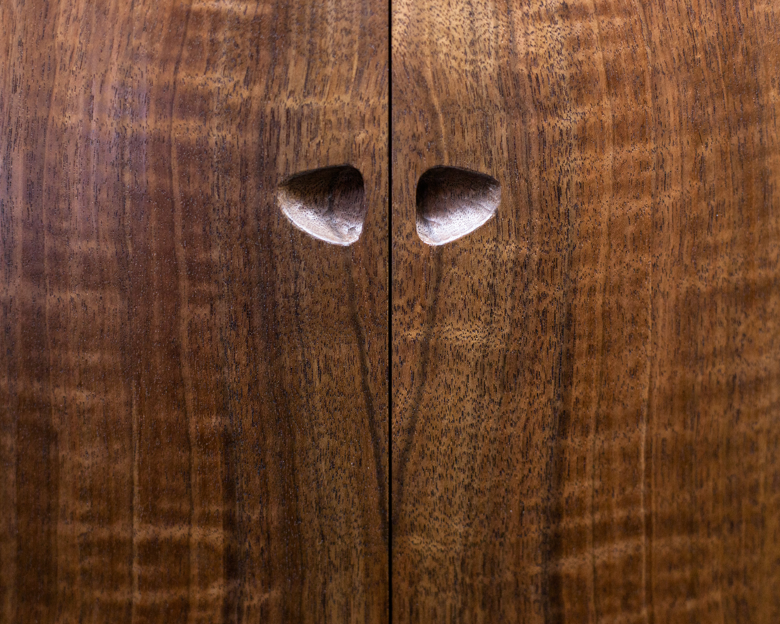 Pull detail of Upward Spiral Cabinet by  Tim Andries   Photography by Tim Andries