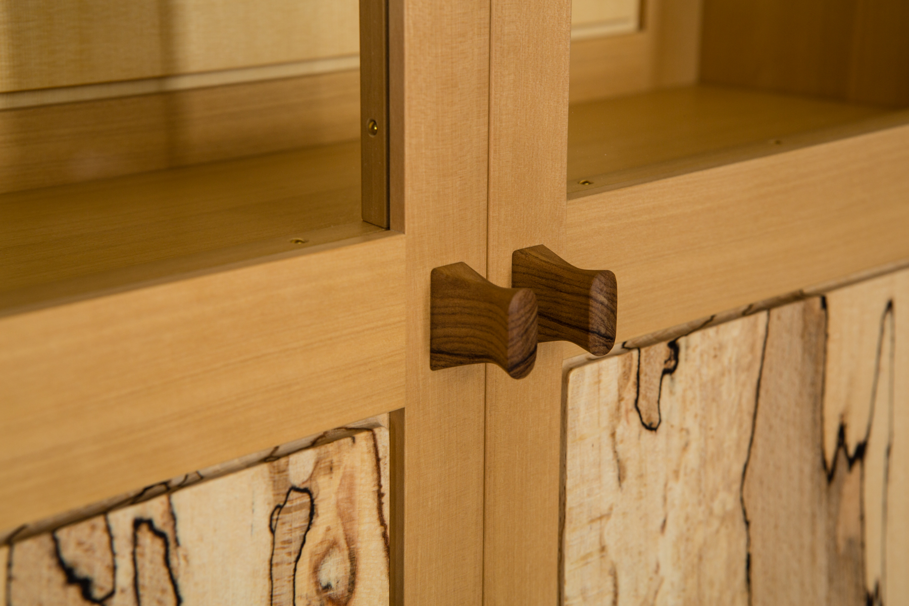 A fine cabinet in boxwood and spalted beech by Caroline Woon
