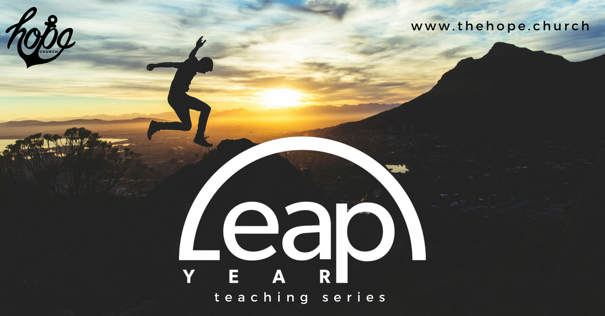 Make this year a Leap Year with our faith stretching series that challenges us to make a leap of faith every single week!