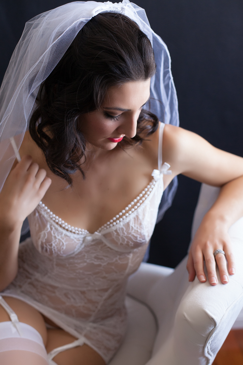 Los angeles Bridal boudoir