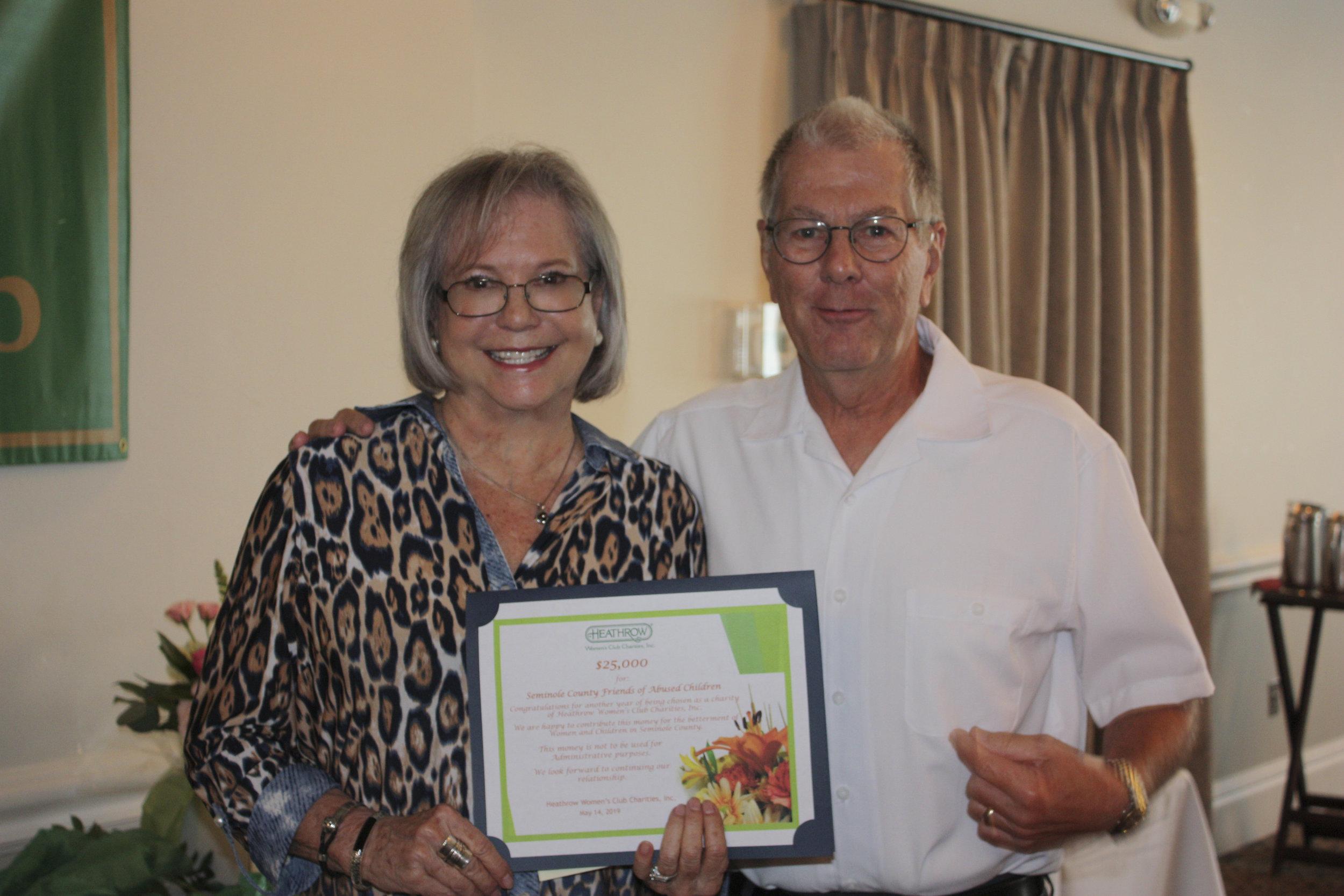 Seminole County Friends Faith Shorthouse, Jim Hill.JPG