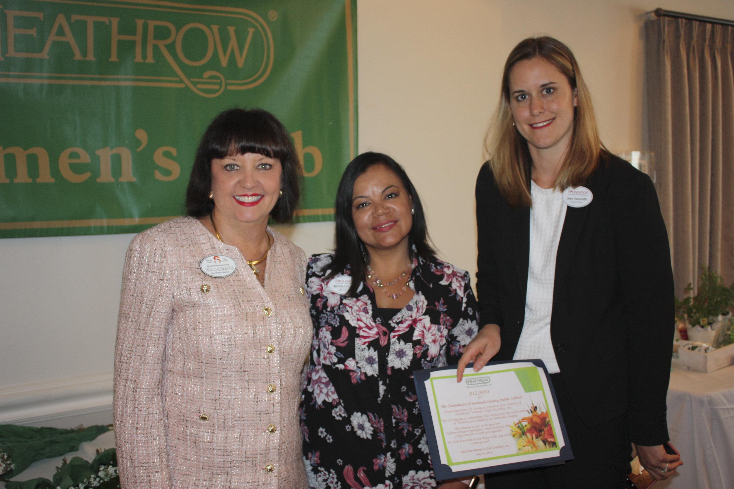Foundation Tina Calderone, Beverly Flores, Jean Vansmith.JPG