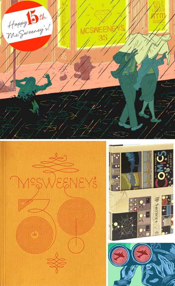 Happy 15th McSweeneys on Cheeky Design