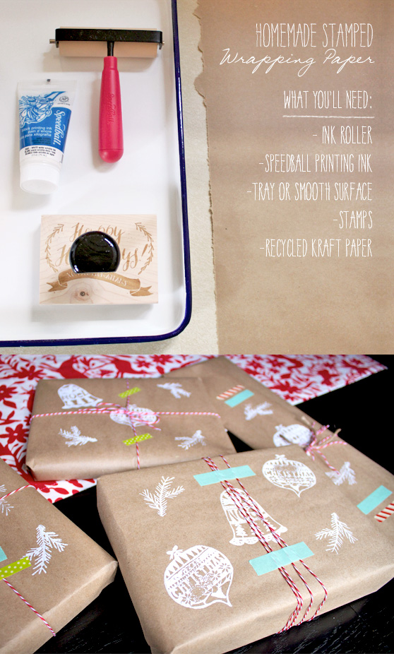 Homemade Wrapping Paper DIY on Cheeky Design