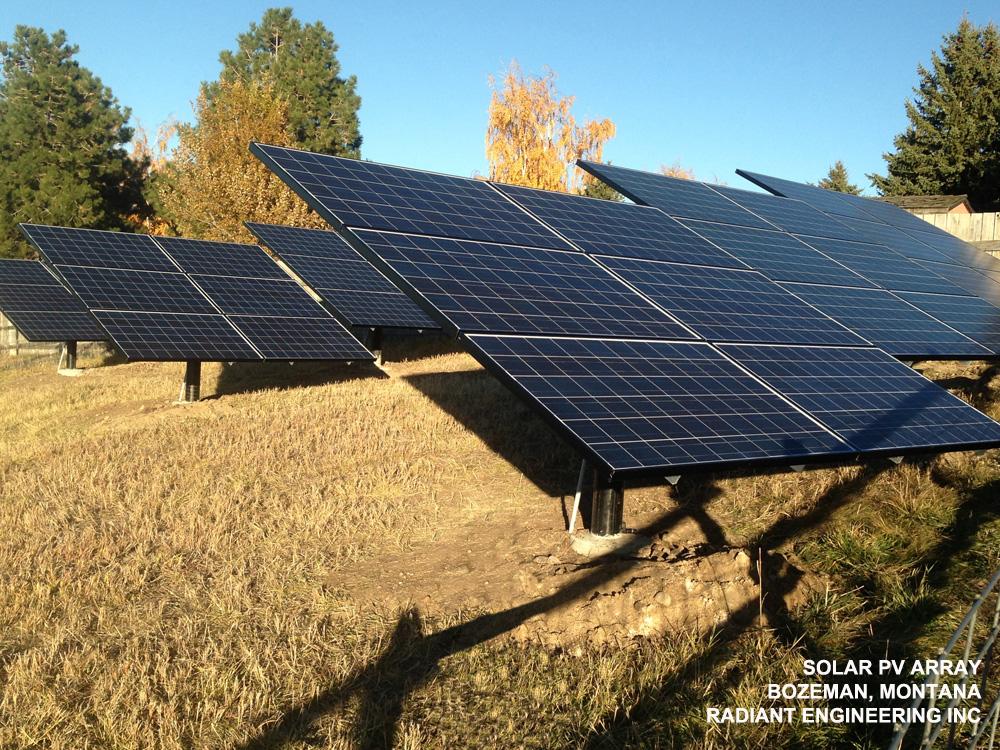 solar PV for residence Montana