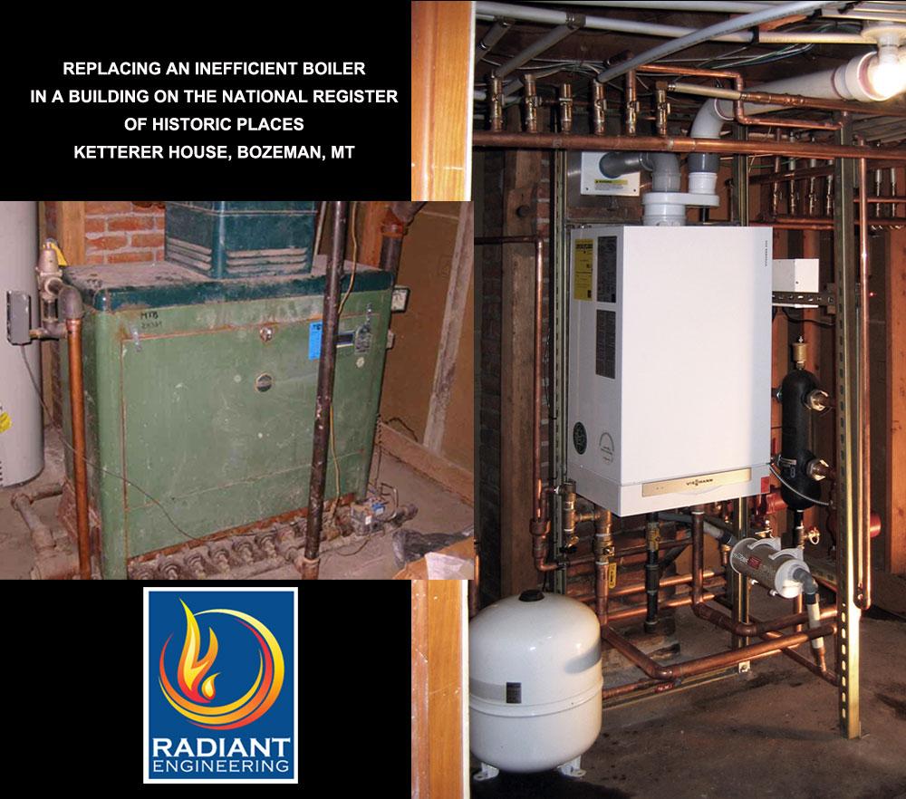 Viessmann boiler before and after retrofit