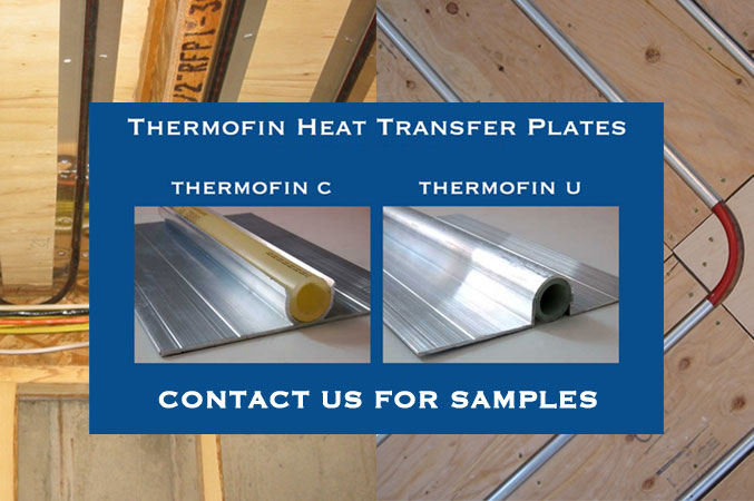 samples of ThermoFin C and ThermoFin U by Radiant Engineering