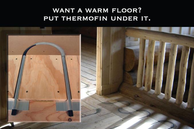 Thermofin U radiant heated floors
