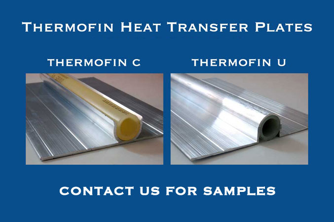 Radiant Engineering thermofin heat transfer plate samples