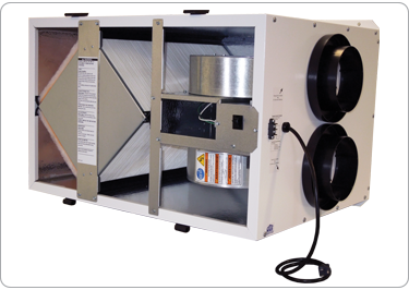 RenewAire EV200, Typical Airflow Range: 100-200 cfm, Optimally sized for the larger residential home (up to 4000 sq. ft.) 115V / 60 Hz / Single Phase corded plug