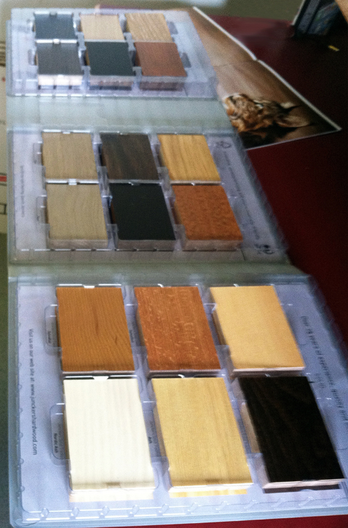 Junckers wood flooring is available in many colors. Above are a few samples.