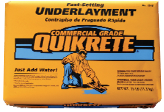 Lock the PEX in the return bend with Fix-It-All, QuikRete Fast-Setting Underlayment, or QuikRete non-shrink grout.
