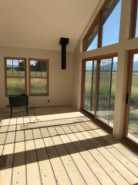 A Montana Home with ThermoFin U Installed for Radiant Heating