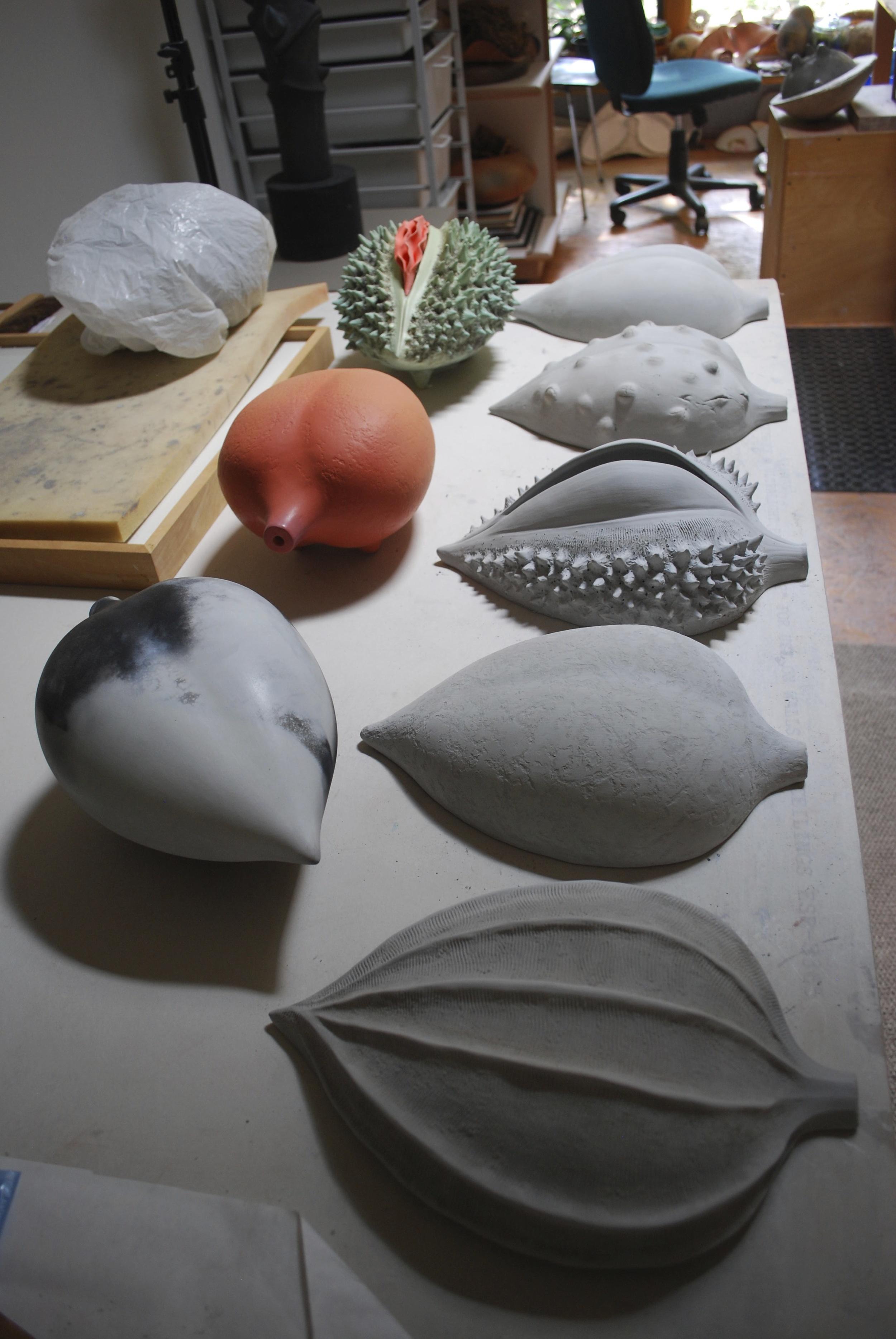 Alice Ballard's studio - Half-Pods in progress