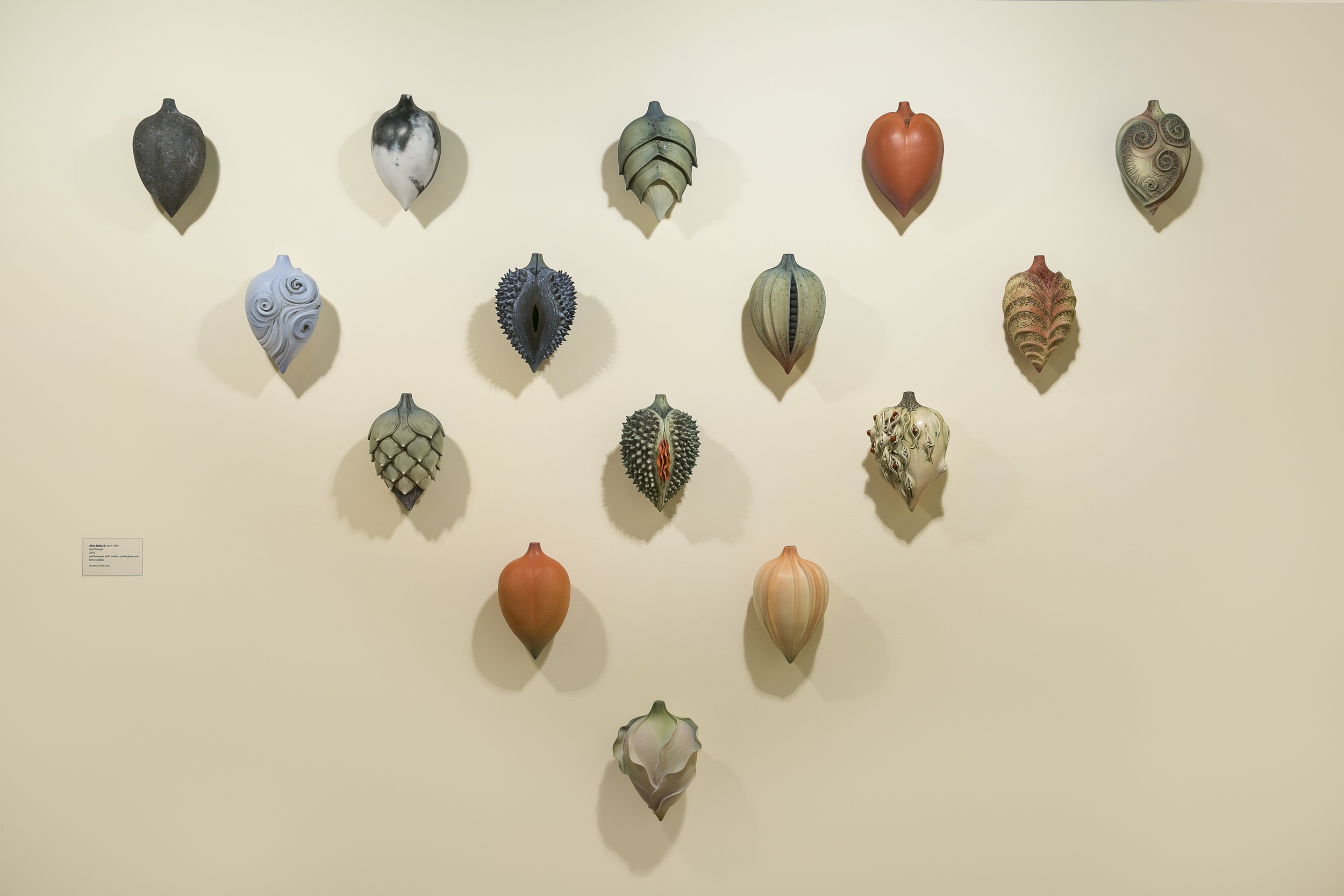 Alice Ballard's 15 Pod Triangle (speaking of pod-casts) currently on display at her solo show at the Greenville County Museum of Art, Greenville, SC through January 4th, 2015.