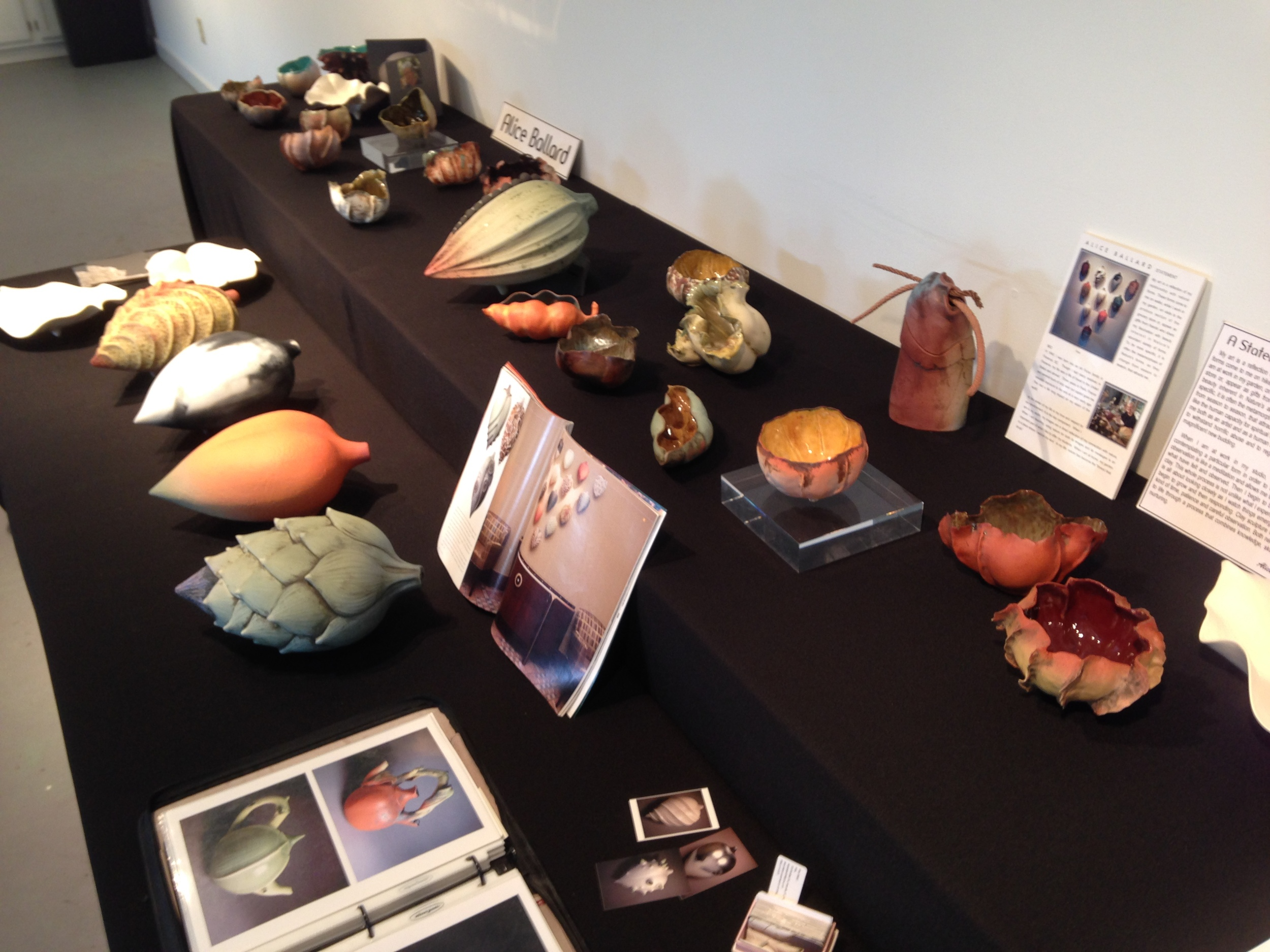 """Set up for a show of my work in the studio next to studio where I was working,in """"the Barn""""."""